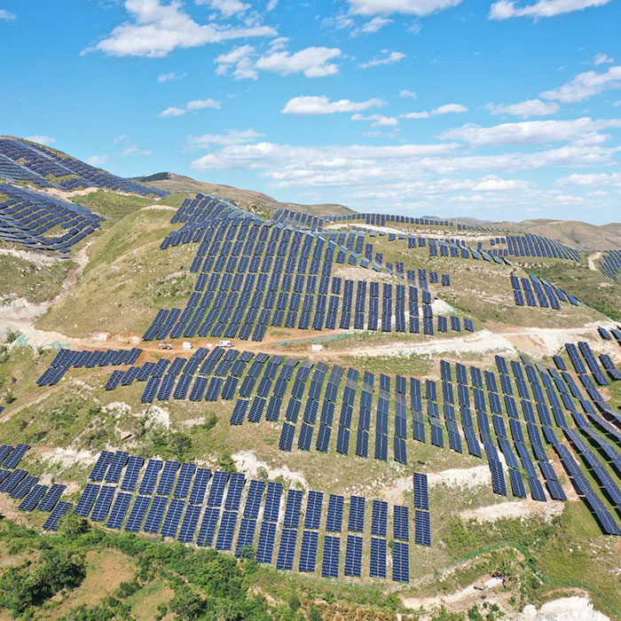 Yutian Hengtai butterfly mountain 30mwp photovoltaic power station project has been successfully connected to the grid for power generation